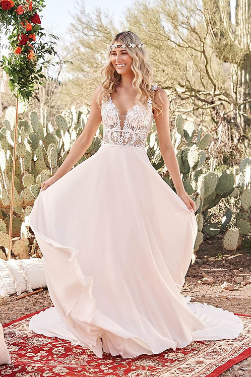 66059 Lillian West Sheath Wedding Dress- In Stock