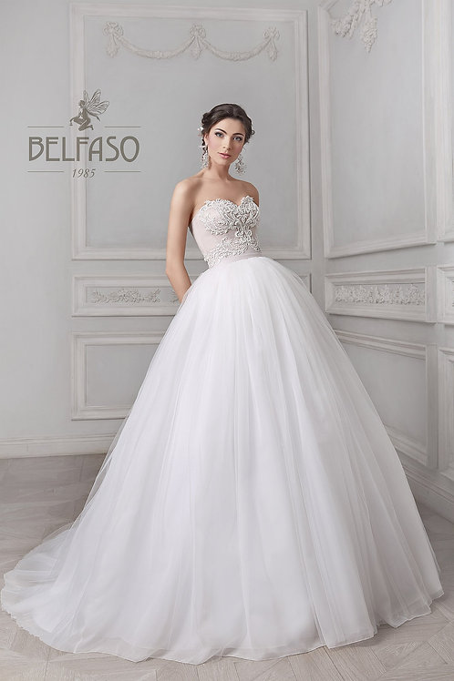 Odella Belfaso Ballgown Wedding Dress Strapless Princess Gown