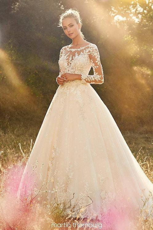 Opal 120233 Martin Thornburg Ballgown Wedding Dress- To Order