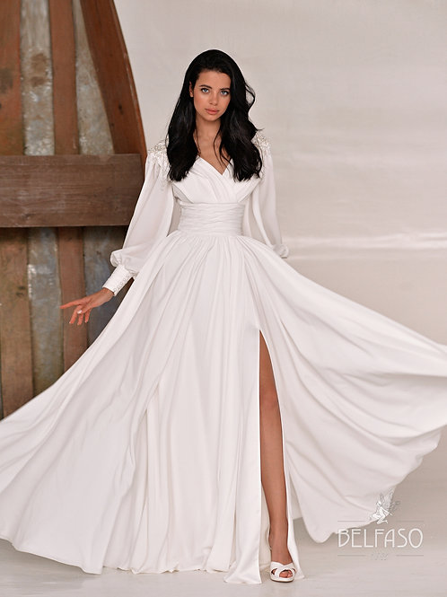 Aver Belfaso  A-Line Wedding Dress- To Order