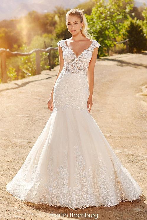 Quin 120241 Martin Thornburg Trumpet Wedding Dress- To Order
