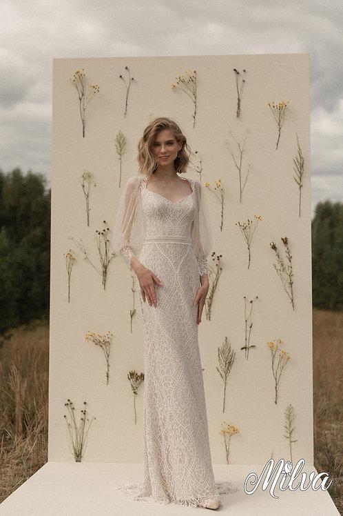 Jane Milva Sheath Wedding Dress- To Order