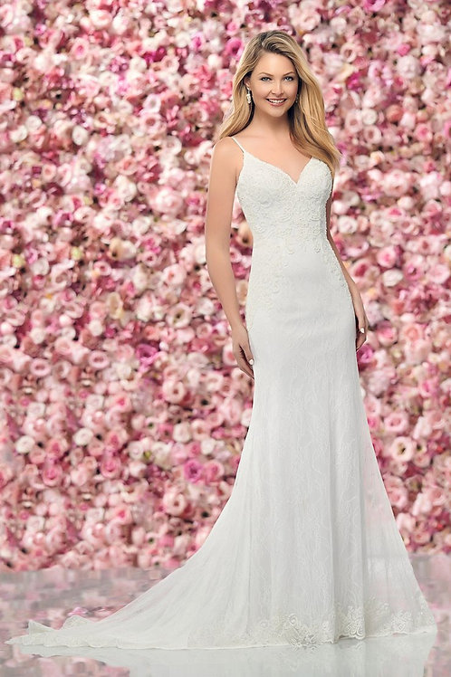 219144 Enchanting Fit & Flare Wedding Dress- In Stock