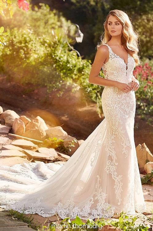 Julia 120252 Martin Thornburg Fit & Flare Wedding Dress- To Order