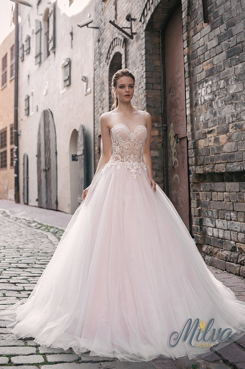 Niksa Milva Ballgown Wedding Dress- To Order