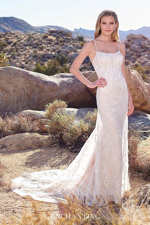 220115 Enchanting Sheath Wedding Dress- To Order