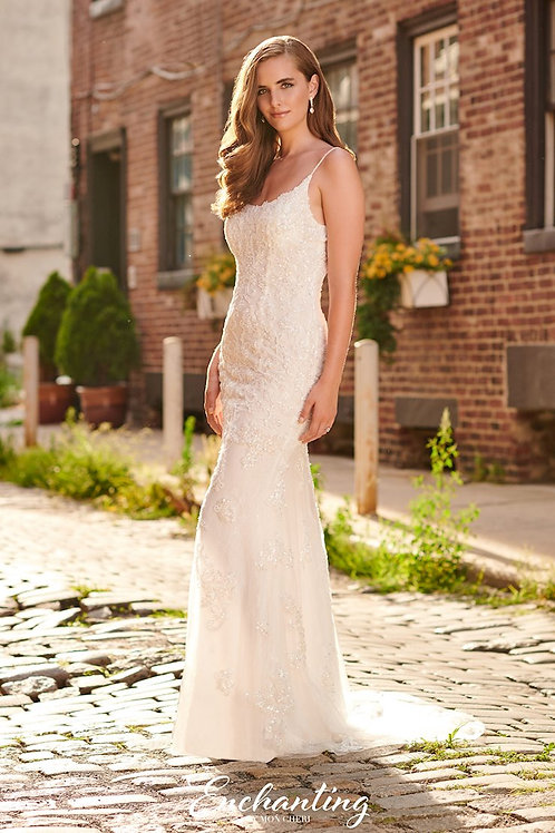 120169 Enchanting Sheath Wedding Dress- To Order