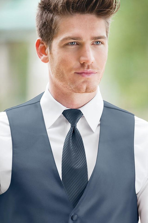 Striped Expressions Slate Blue Windsor Tie