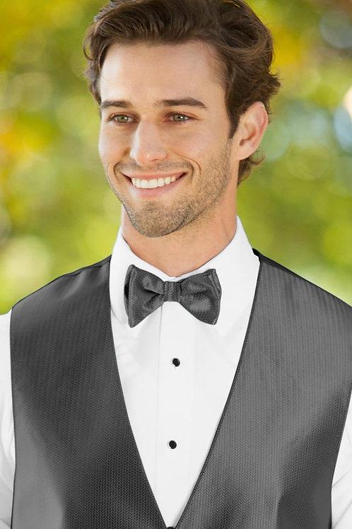Herringbone Charcoal Bow Tie
