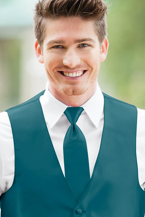 Solid Expressions Teal Windsor Tie