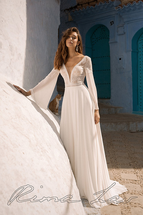 Amulet Rima Lav Sheath Wedding Dress- To Order