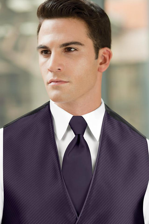 Solid Eggplant Windsor Tie