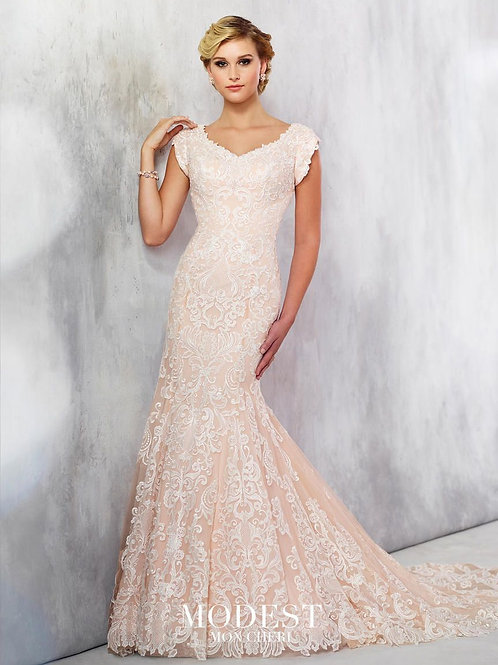 TR21712 Modest by Mon Cheri Fit & Flare Wedding Dress-In Stock