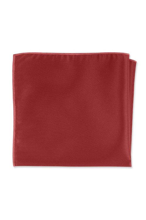 Herringbone Ruby Pocket Square