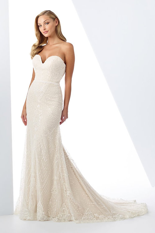 119111 Enchanting Fit & Flare Wedding Dress- To Order
