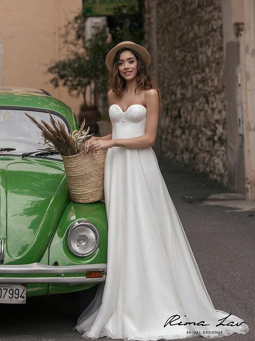 Liv Rima Lav A-Line Wedding Dress- To Order