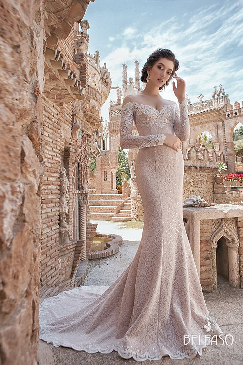 Jessica Belfaso Fit & Flare Wedding Dress- To Order