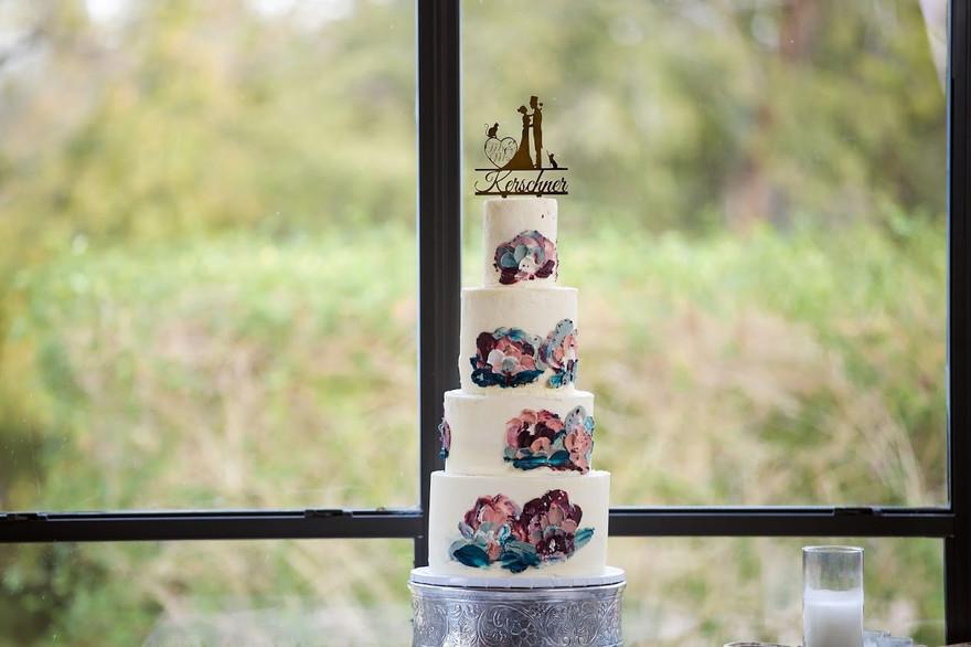 Four-Tiered Custom Buttercream cake