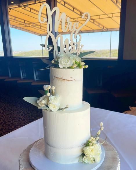 Mini Two-Tiered Wedding Cake
