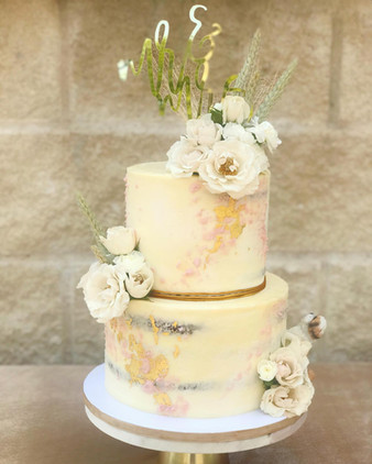 Two-tiered Semi Naked Cake