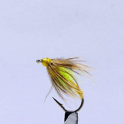 mouche de peche|mouche noyée 1 jaune/vert AG|agpbpeche|modane