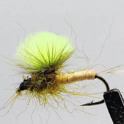 mouche seche|mouche ephémère Parachute vert fluo AG|modane|andre gilles