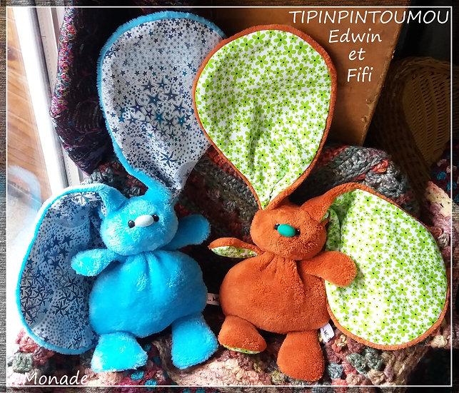 Tipinpintoumou Edwin et Fifi (Oeko-Tex)