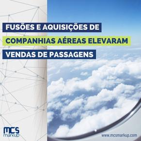 Fusões e aquisições de companhias aéreas elevaram vendas de passagens