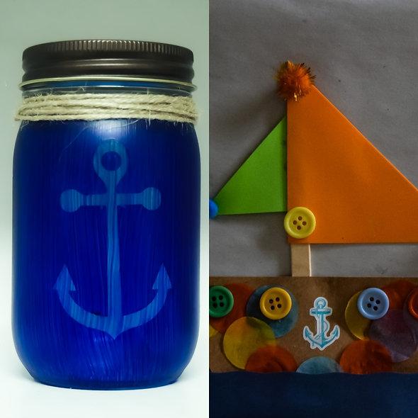 Boats and Anchors Combo Jar