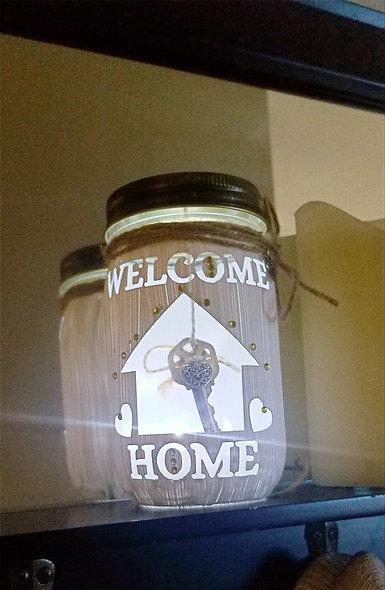 Welcome Home Key Holder Craft Jar Kit