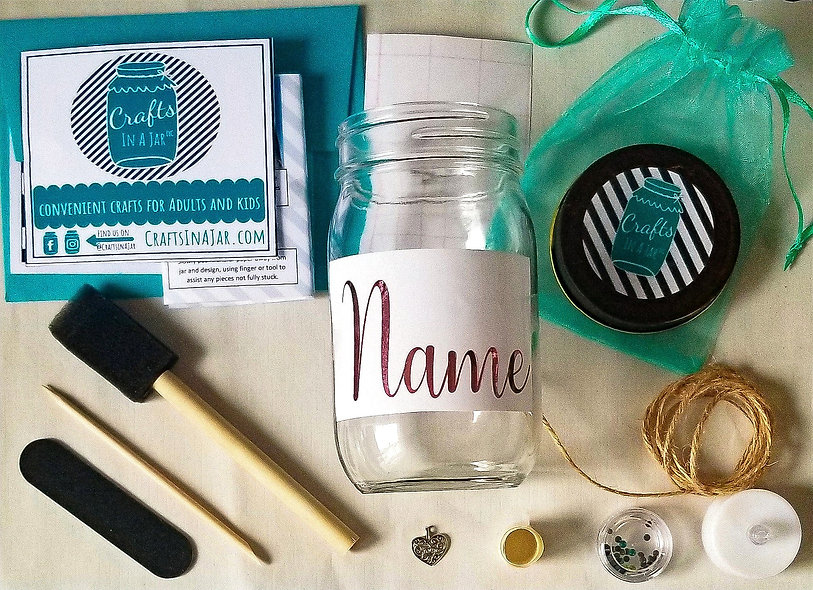 """Your Name"" Craft Jar Kit!"