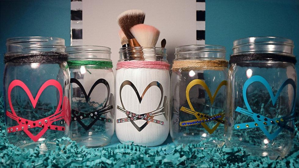 Love Makeup Craft Jar (Finished)