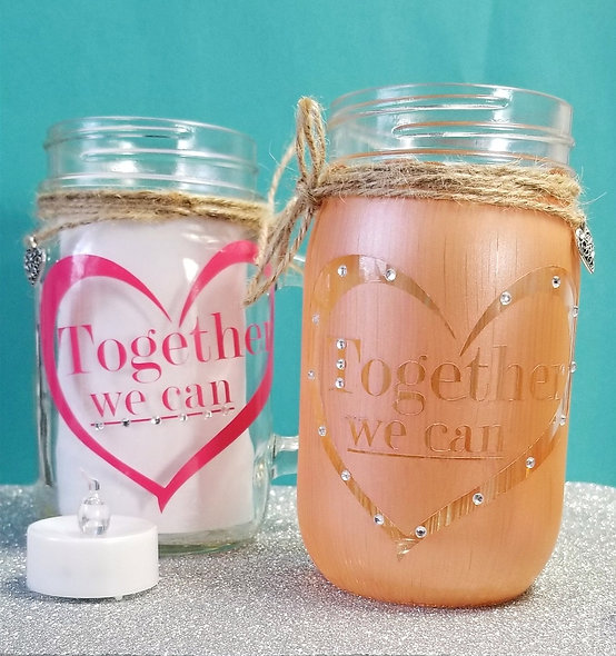 Together We Can Decorated Jar