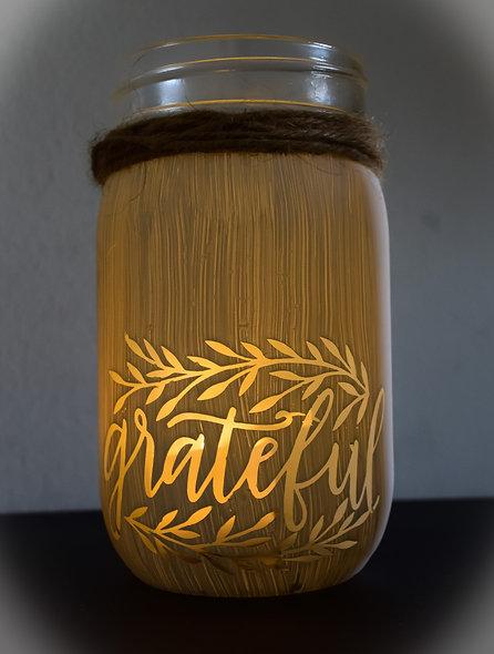 Finished Grateful Craft Jar