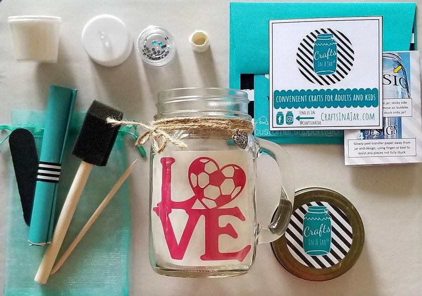 Soccer Love Craft Jar Kit