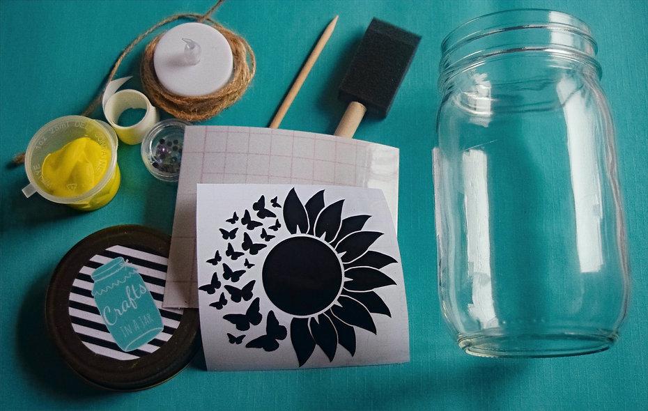 Premium Sunflower Craft Jar Kit