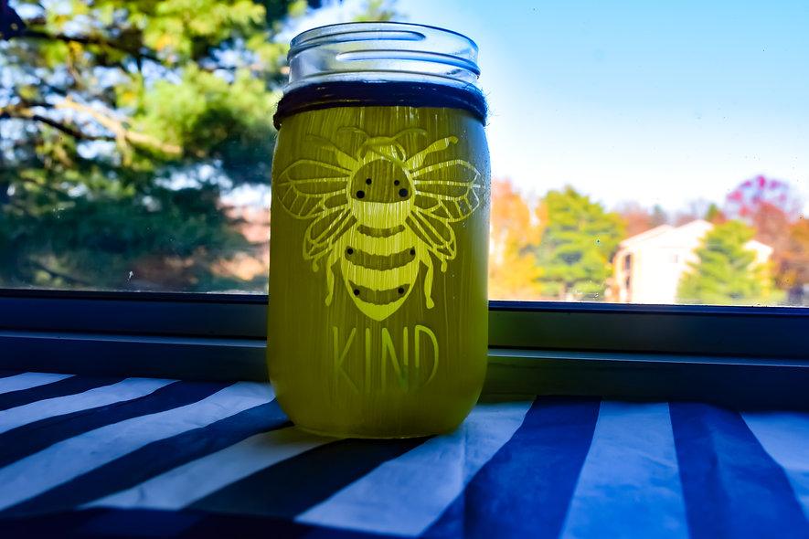 Finished Bee Kind Jar