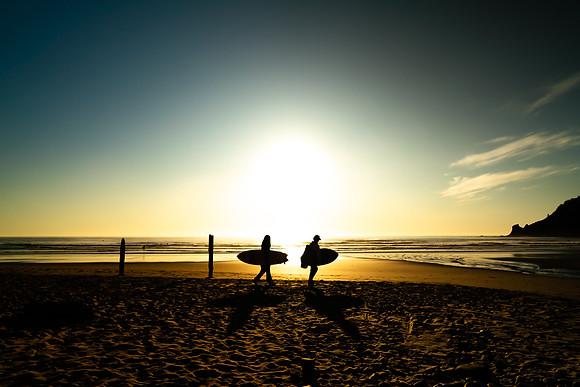 Sillouette Surfers