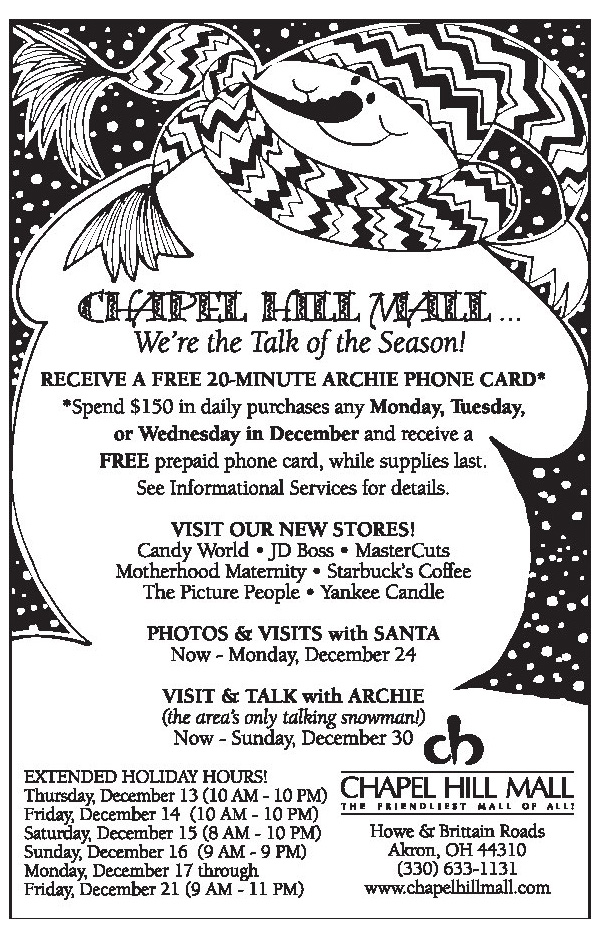 Chapel Hill Mall Newspaper Ad