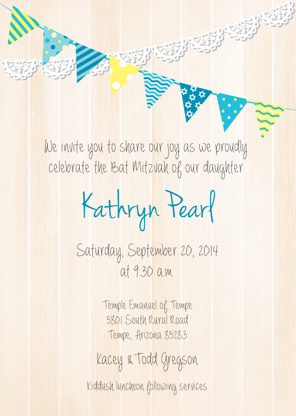 Bat Mitzvah Invite