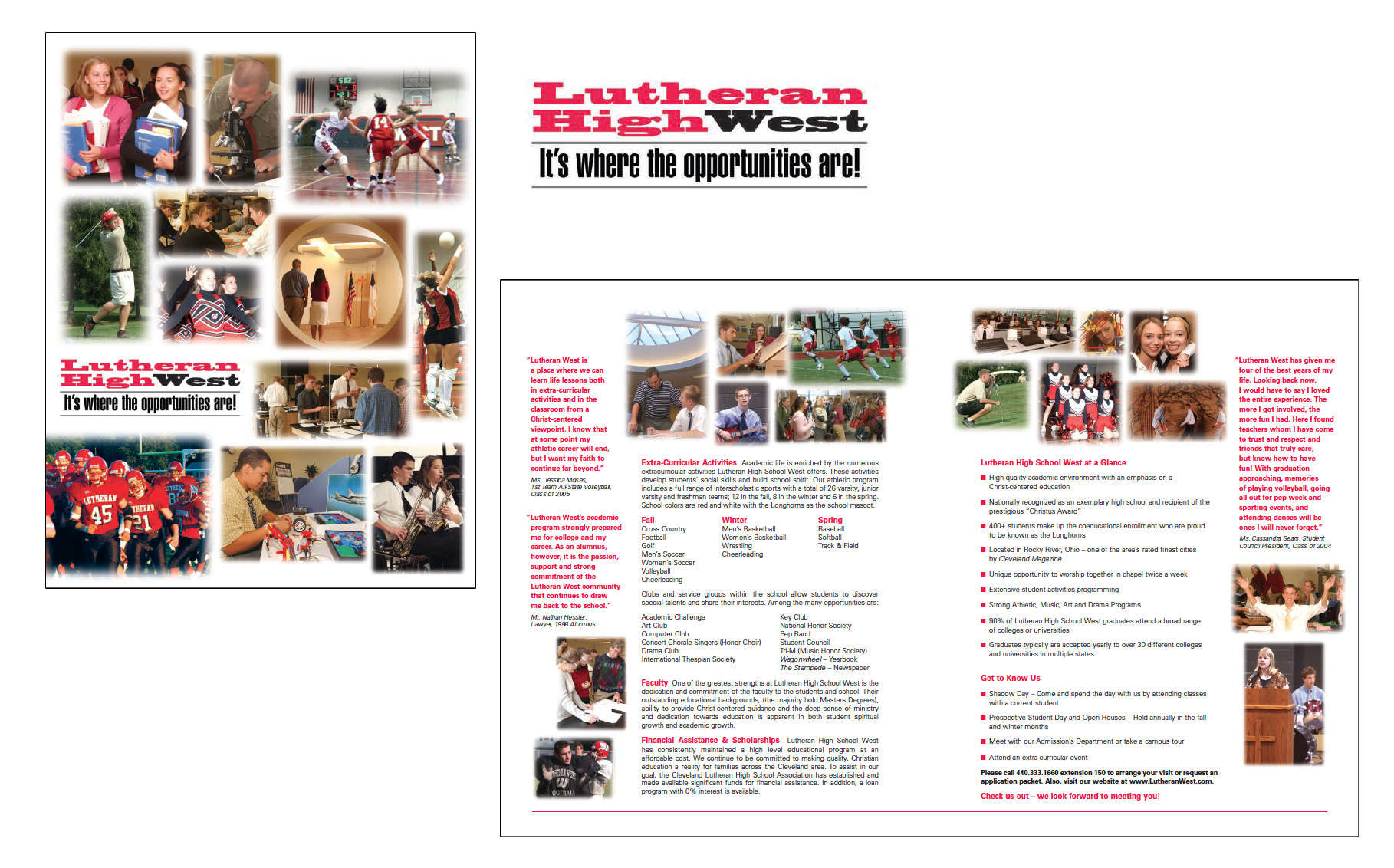 Lutheran HS West Brochure & Logo