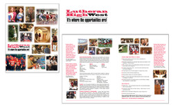 Lutheran HS West Brochure & Logo