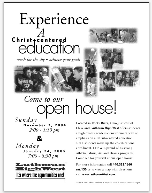 Lutheran Highschool Newspaper Ad