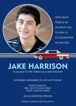 Bar Mitzvah Invite