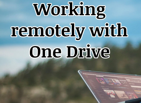 Working remotely with One Drive