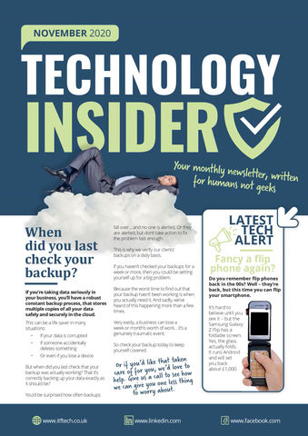 Technology Insider: When did you last check your backup?