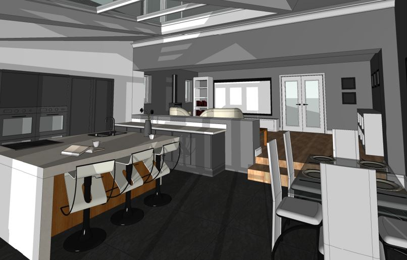 Creigiau Proposed Kitchen View