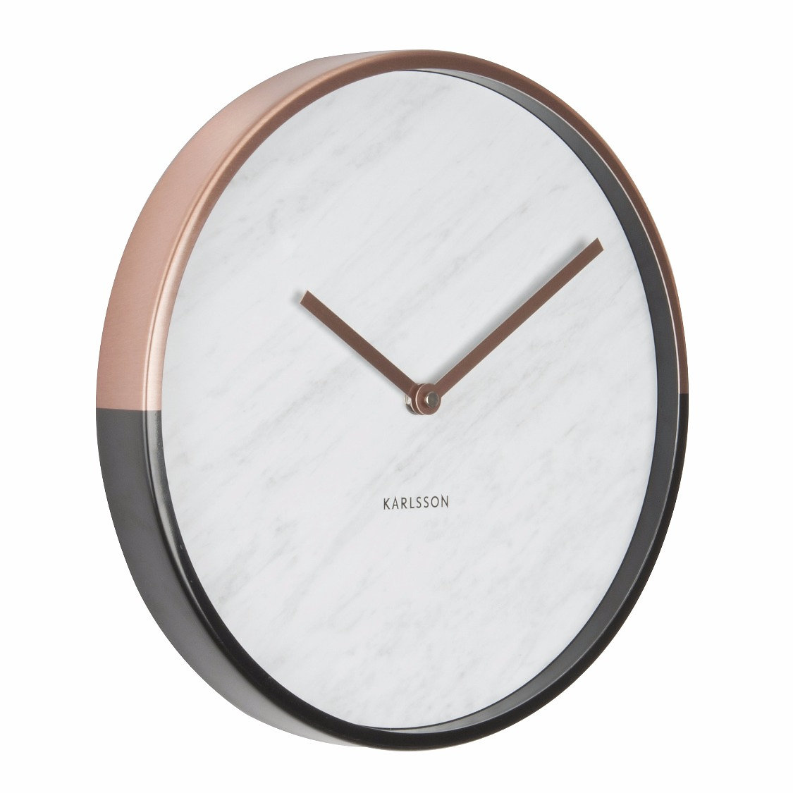 Sketch interiors where statement pieces are born white marble a thoroughly modern white marble and metallic wall clock with a choice of a gold or copper case amipublicfo Gallery