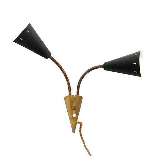 1950s Swedish Diablo Wall Lamp By Asea in The manner Of Lauritzen Paavo Tynell