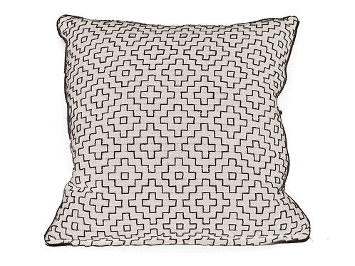 Monochrome Geometric Pattern Cushion